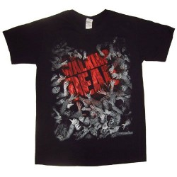Camiseta Walker Horde And Logo The Walking Dead