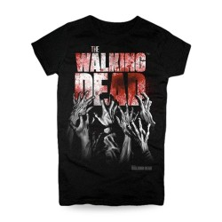 Camiseta Hands Blood The Walking Dead
