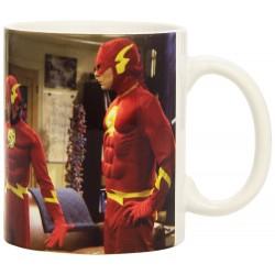 taza de cerámica disfraz Flash de The Big Bang Theory