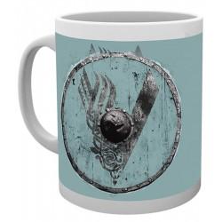Taza de cerámica BLUE V de Vikingos