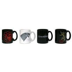 Set de 4 mini tazas de café de Juego de Tronos
