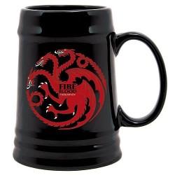 Jarra de cerámica Fire and Blood Casa Targaryen de Juego de Tronos