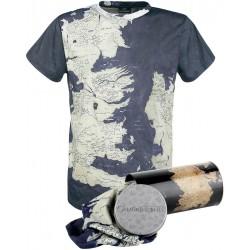 Camiseta mapa de Poniente Juego de Tronos